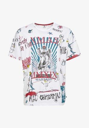 SCRIBBLE CHRISTMAS TEE - T-shirt print - white