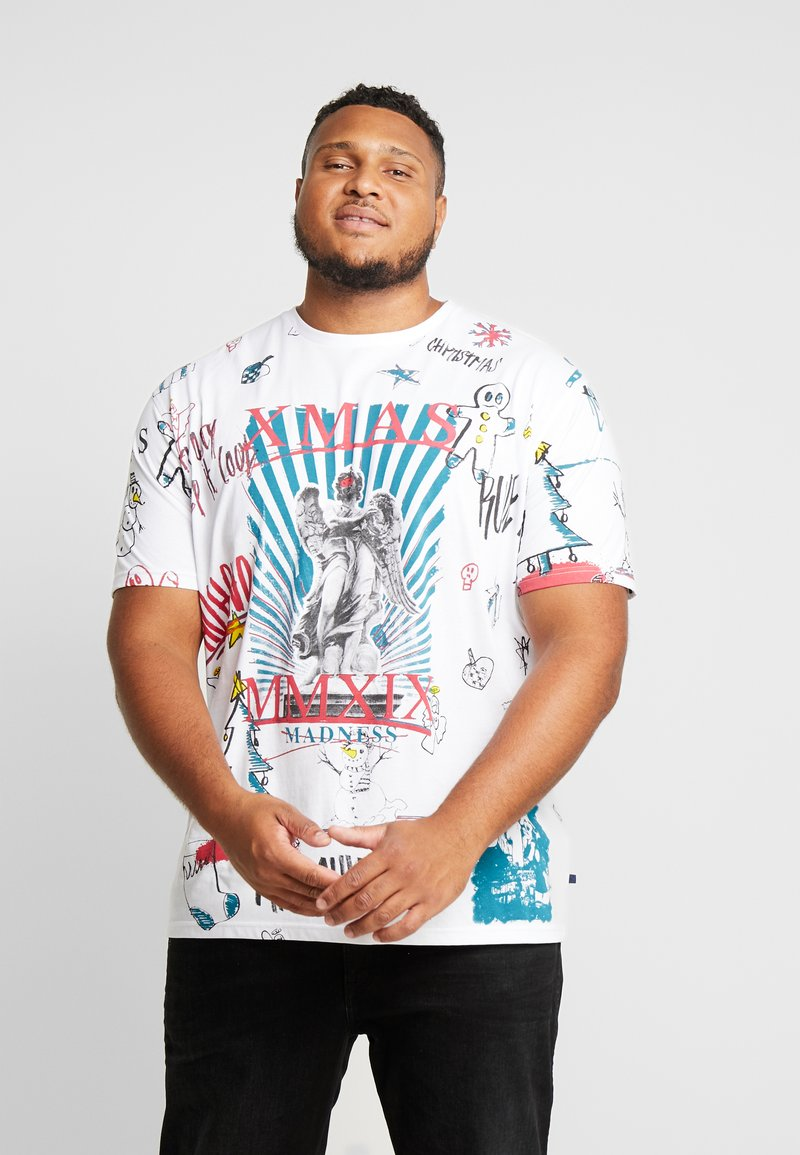 Jack´s Sportswear - SCRIBBLE CHRISTMAS TEE - T-Shirt print - white