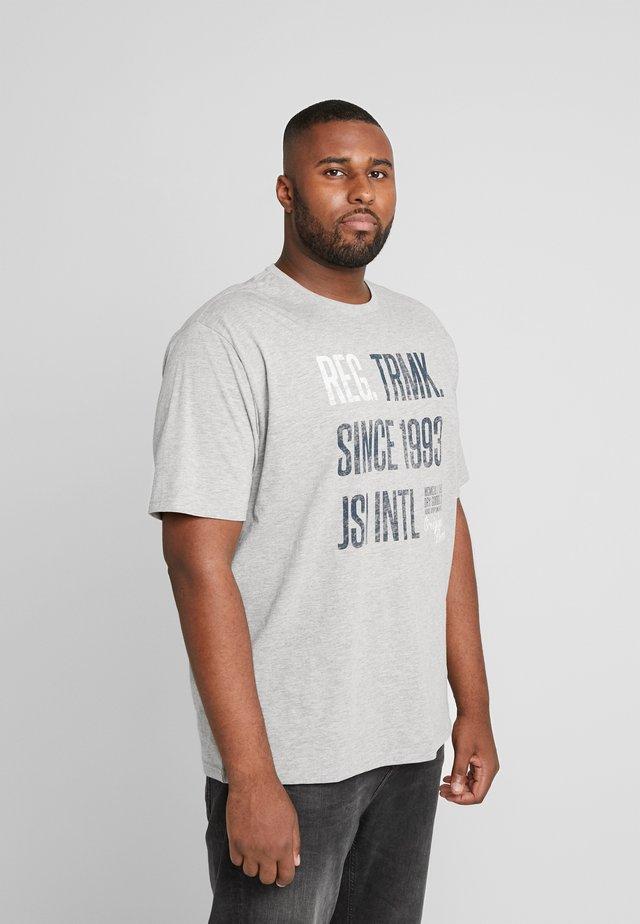 ONECK - T-shirt z nadrukiem - grey melange