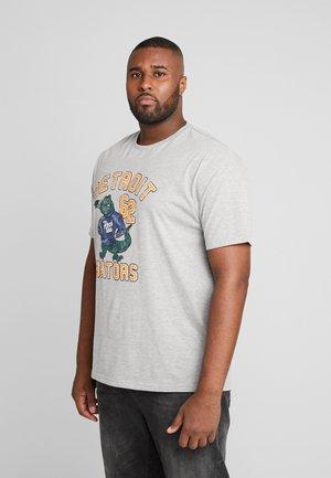 MASCOT PRINT TEE - Print T-shirt - grey melange