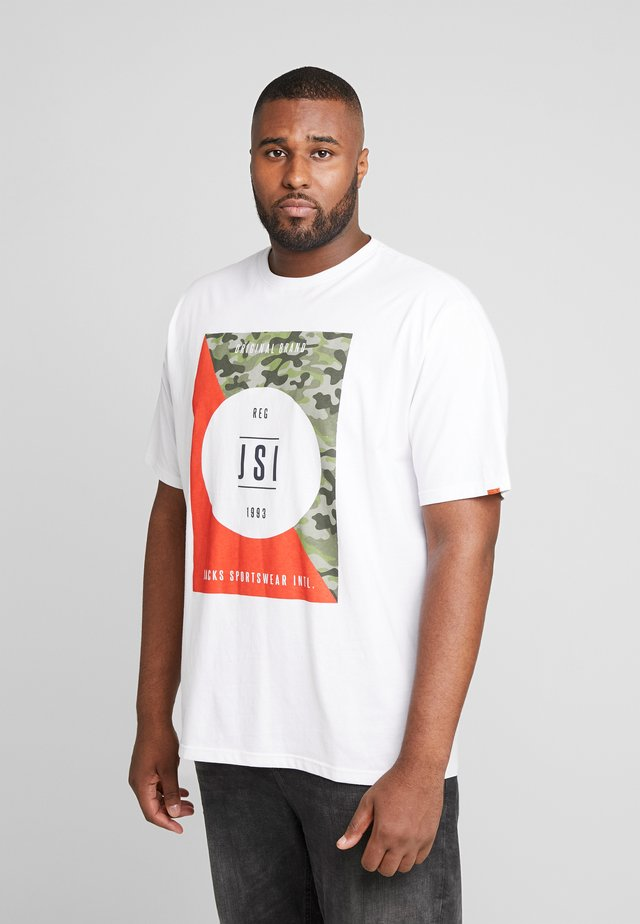 ONECK PRINT - T-shirt con stampa - white
