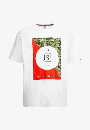 ONECK PRINT - Print T-shirt - white