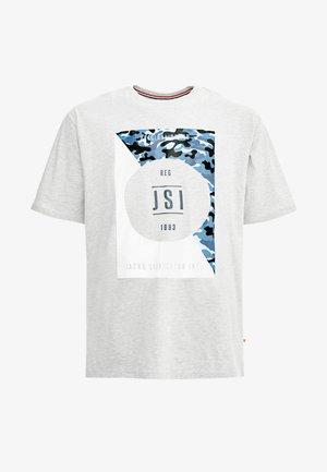 ONECK PRINT - Print T-shirt - grey melange