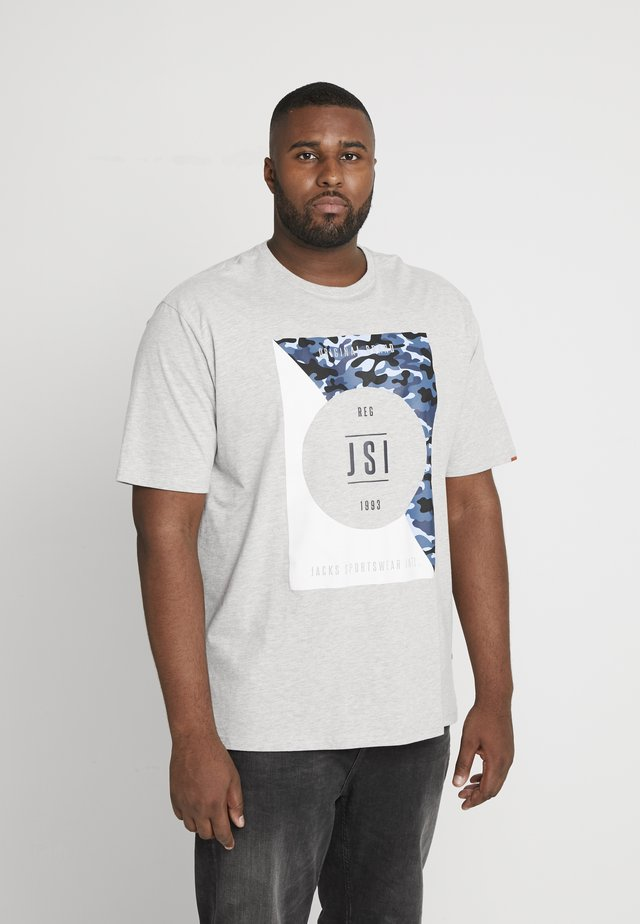 ONECK PRINT - T-shirt med print - grey melange