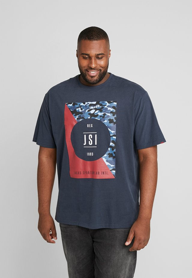 ONECK PRINT - T-shirt con stampa - navy
