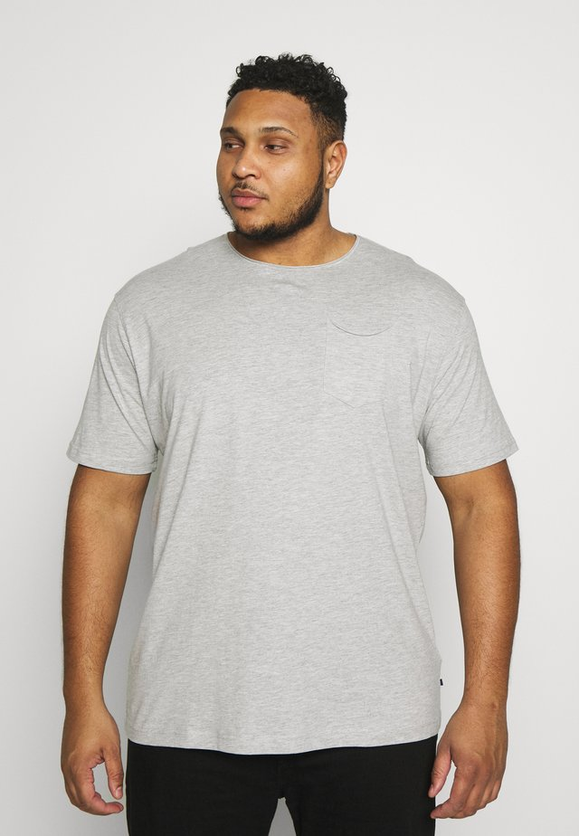 BASIS TEE SINGLE 2 PACK - Basic T-shirt - frey mel / navy