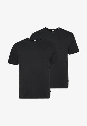 BASIS TEE SINGLE 2 PACK - Basic T-shirt - black