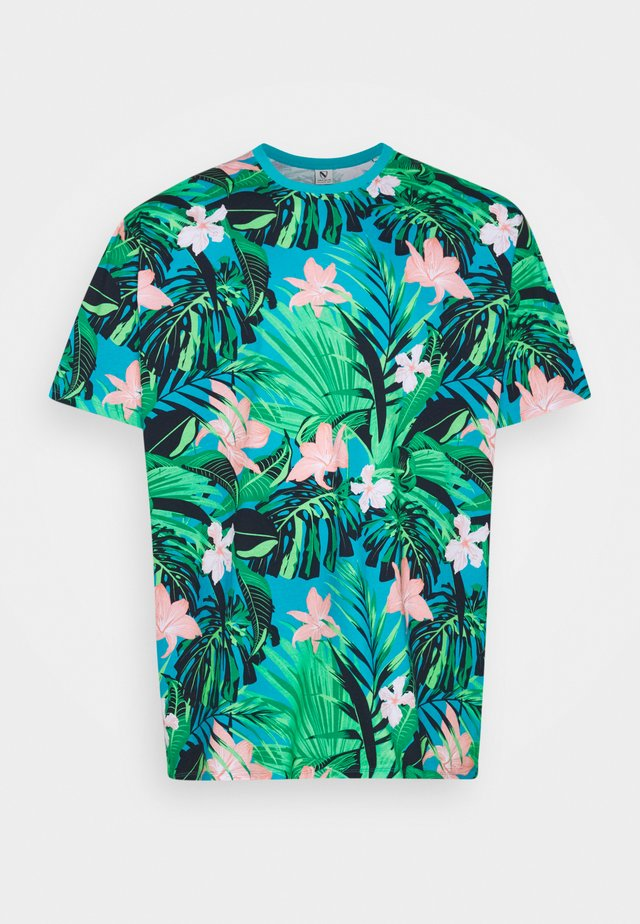FLOWER TEE  - T-shirt con stampa - türkis