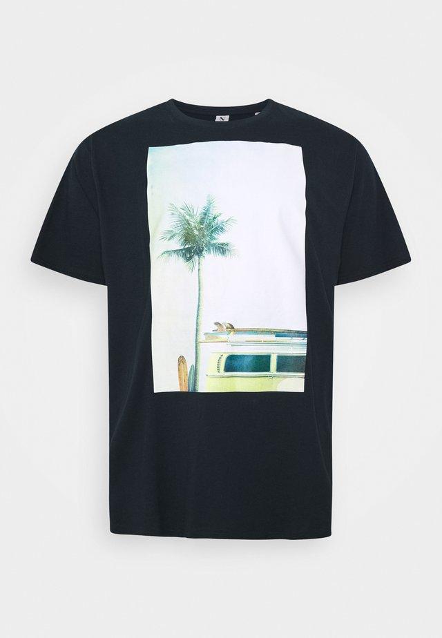SURF PRINT - T-shirt z nadrukiem - dunkelblau