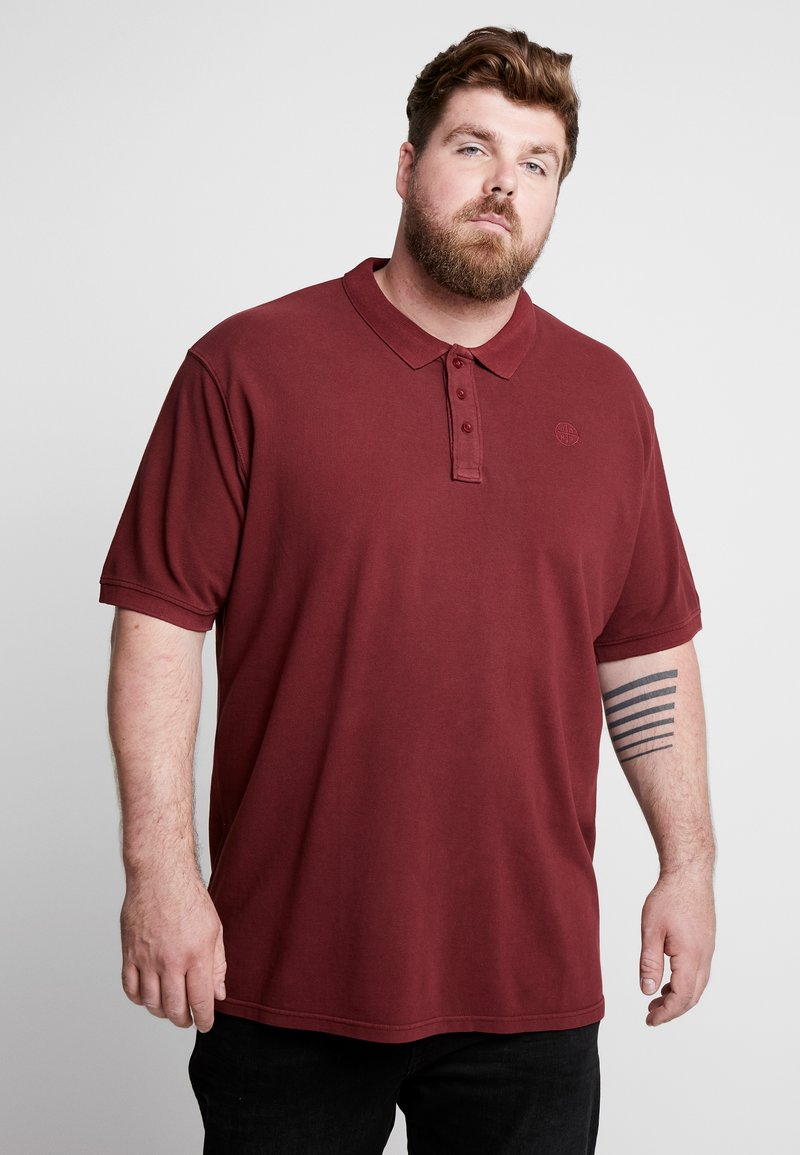 Jack´s Sportswear - DYED AND WASHED OUT - Polo - bordeaux