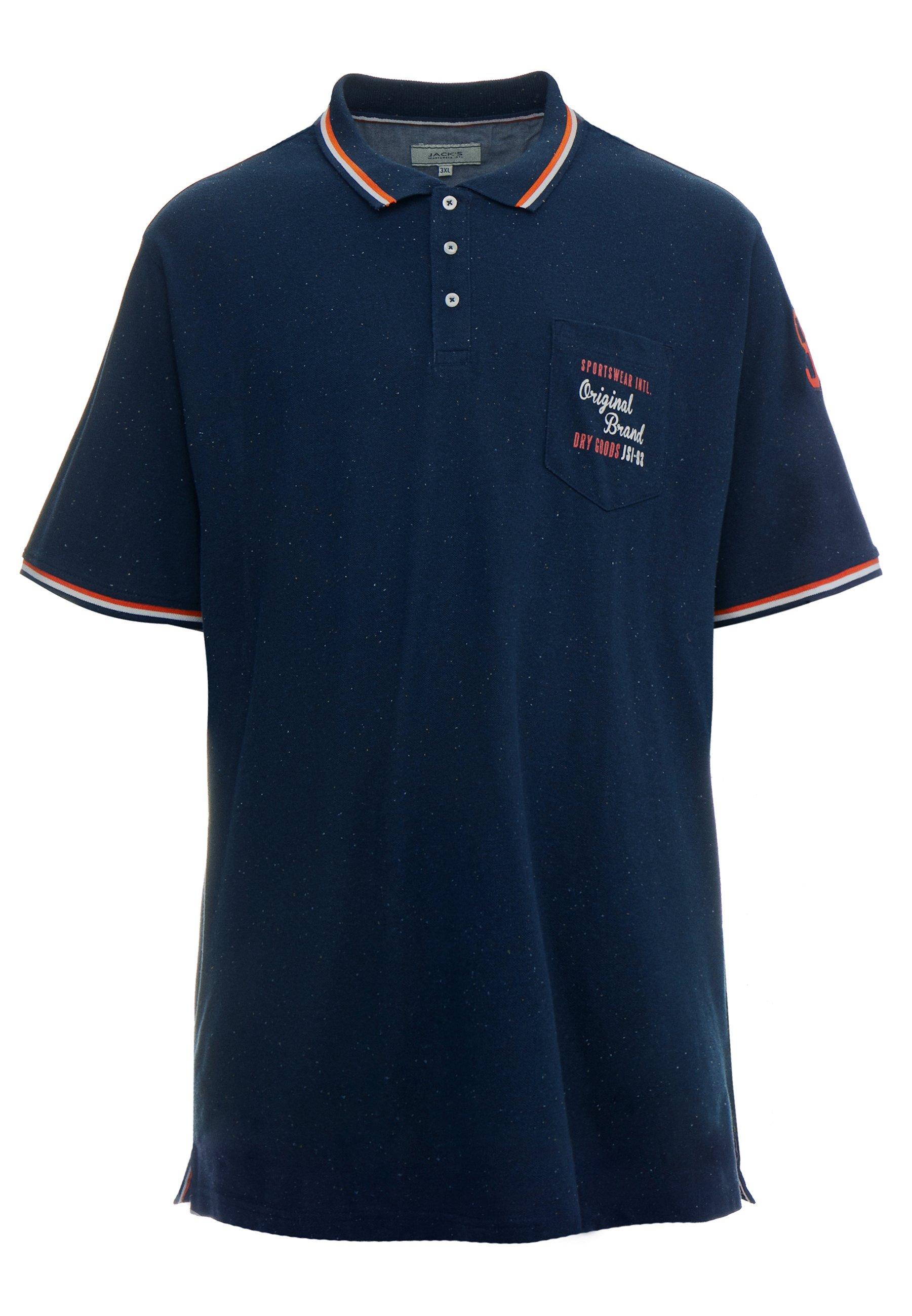 Jack´s Sportswear Appliqué - Polo Shirt Blue Melange