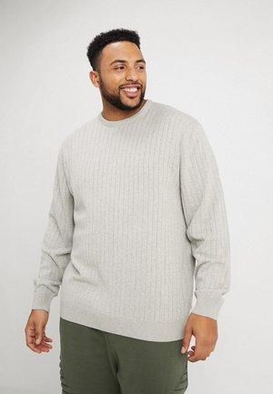 NEEDLE DROP - Sweter - light grey melange