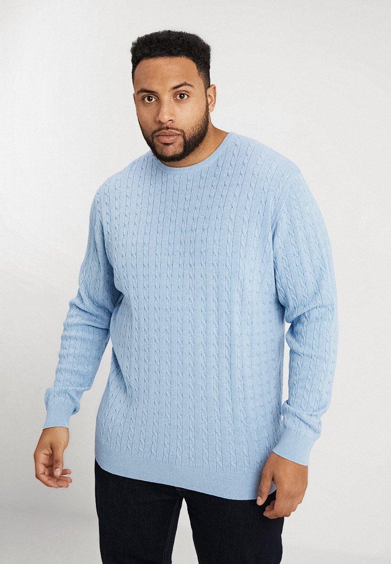 Jack´s Sportswear - O NECK CABLE - Jersey de punto - light blue