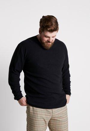 MIXED - Stickad tröja - black