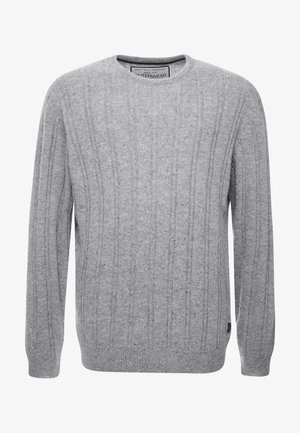 CREW NECK - Sweter - grey