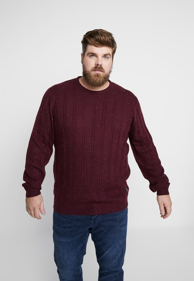 CREW NECK - Strikkegenser - bordeaux mix
