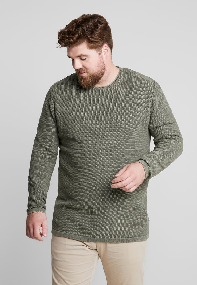 ROLL EDGE - Strickpullover - army