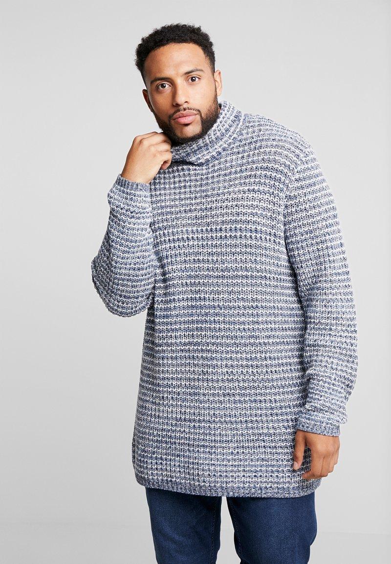 Jack´s Sportswear - ROLL NECK CHUNKY - Jumper - blue mix