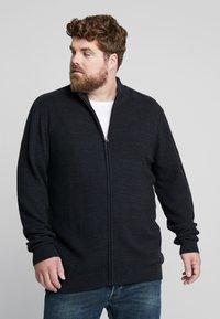 Jack´s Sportswear - HIGH NECK ZIP - Kardigan - dark blue - 0