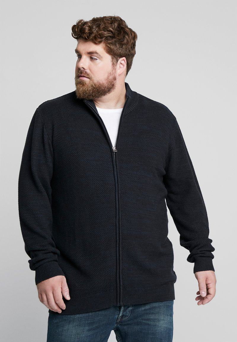 Jack´s Sportswear - HIGH NECK ZIP - Cardigan - dark blue