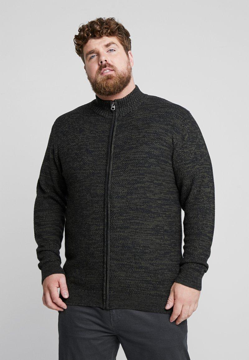 Jack´s Sportswear - HIGH NECK ZIP - Cardigan - dark army