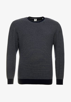 STRIPED O NECK - Jumper - navy