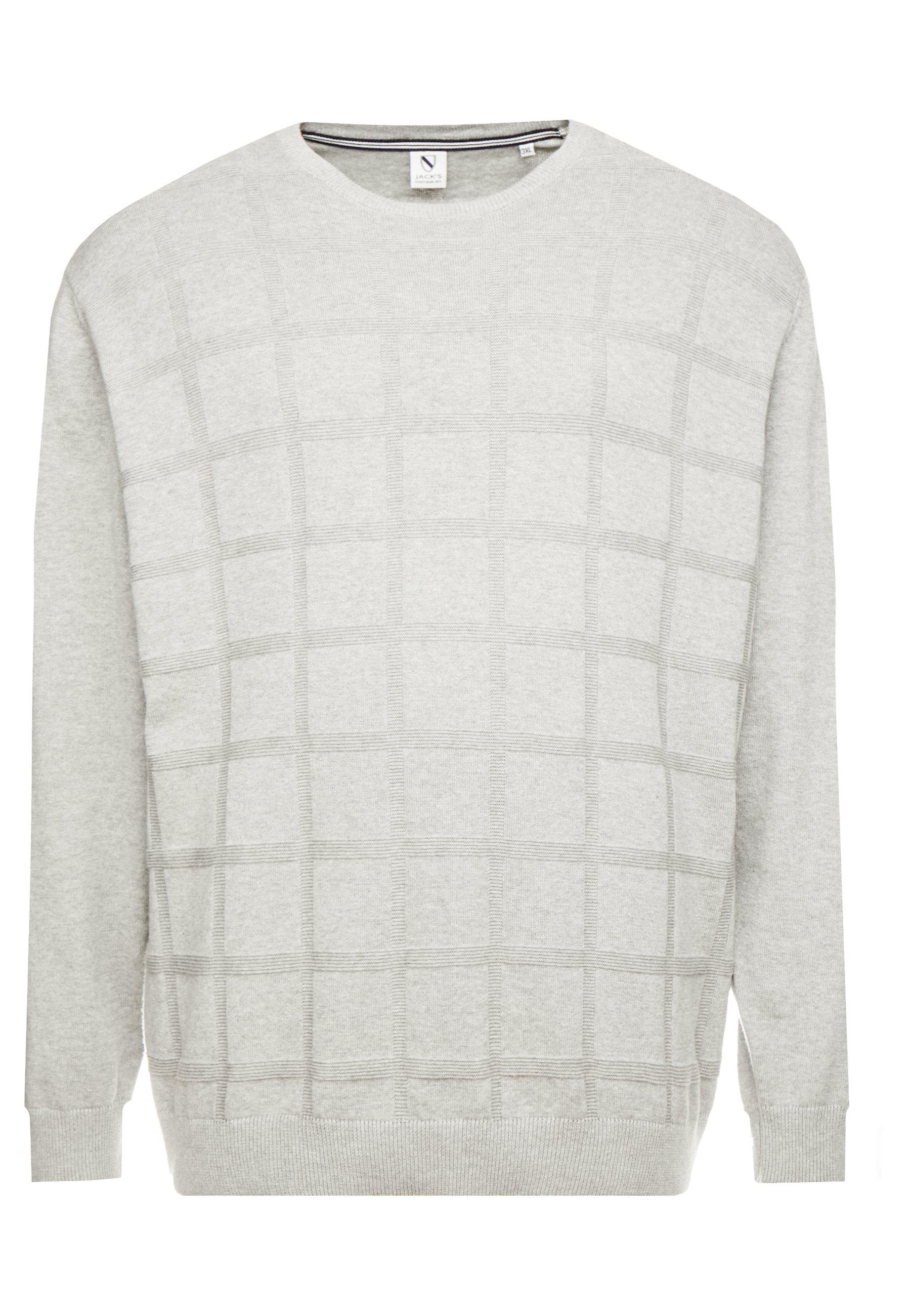 Jack´s Sportswear GEOMETRIC PATTERN O-NECK - Sweter - grey melange