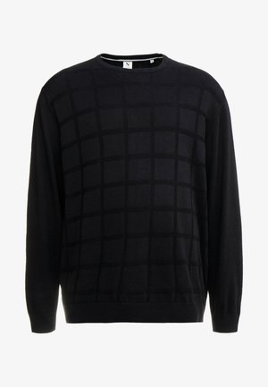 GEOMETRIC PATTERN O-NECK - Maglione - black