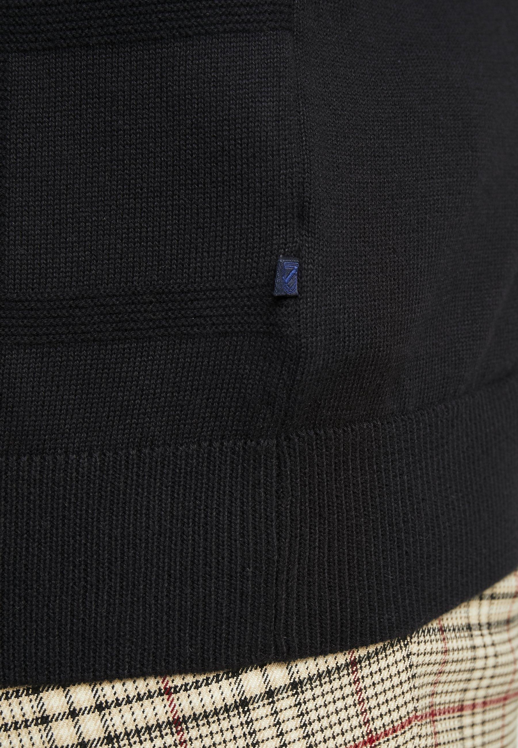 Jack´s Sportswear GEOMETRIC PATTERN O-NECK - Sweter - black