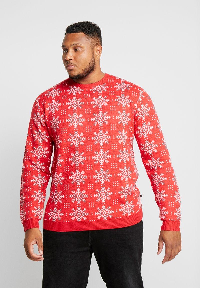 Jack´s Sportswear - XMAS ICEFLOWER - Jumper - red