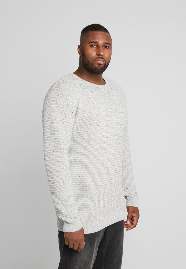CREW NECK - Strickpullover - grey melange