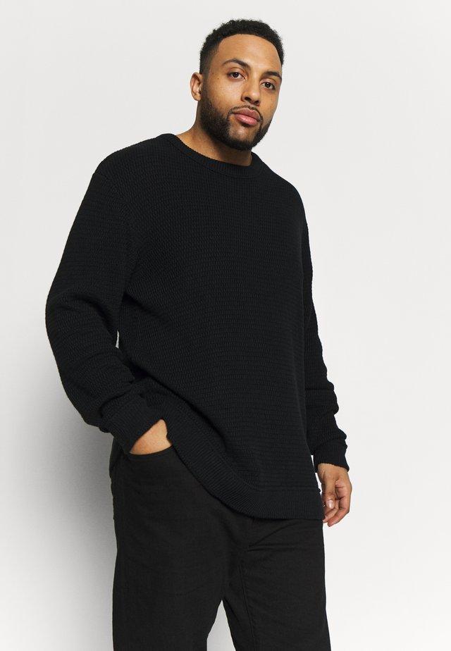 O-NECK - Sweter - black