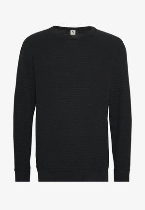 O-NECK - Pullover - black