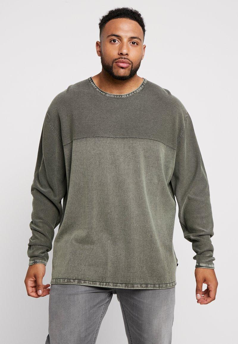 Jack´s Sportswear - ROLL EDGE TEXTURE - Neule - army