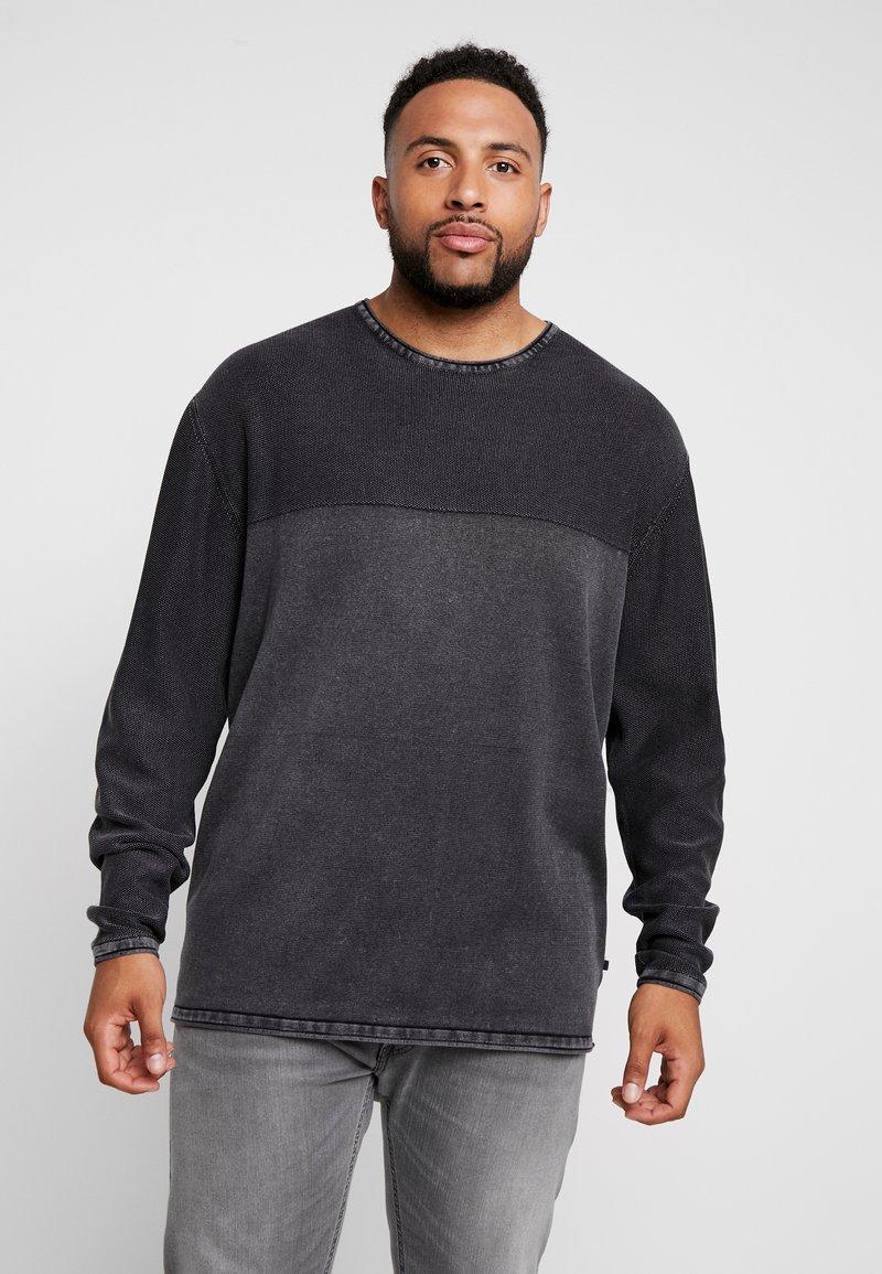 Jack´s Sportswear - ROLL EDGE TEXTURE - Jumper - black