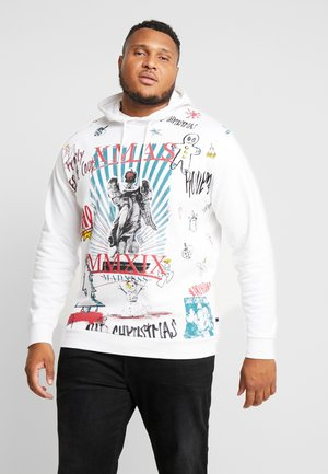 SCRIBBLE CHRISTMAS HOODIE - Sweat à capuche - white