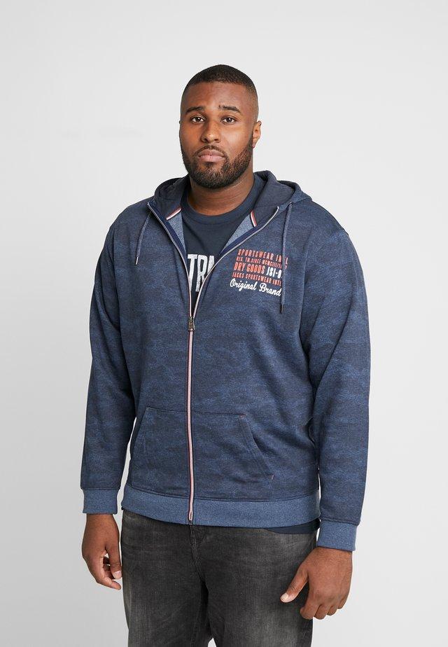 HOOD - Zip-up hoodie - blue mel