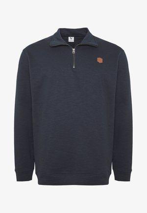 HIGH NECK ZIP - Sweatshirt - navy