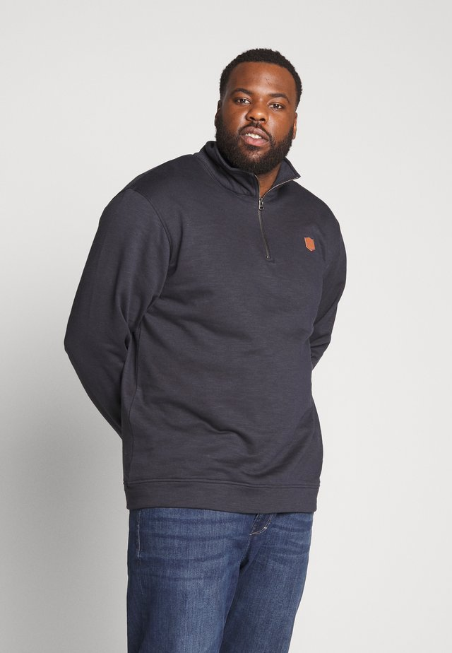 HIGH NECK ZIP - Sweatshirt - navy