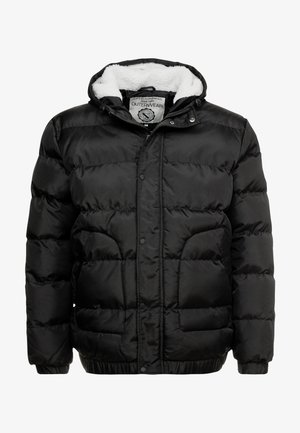 QUILTED HIGH NECK JACKET - Winterjas - black