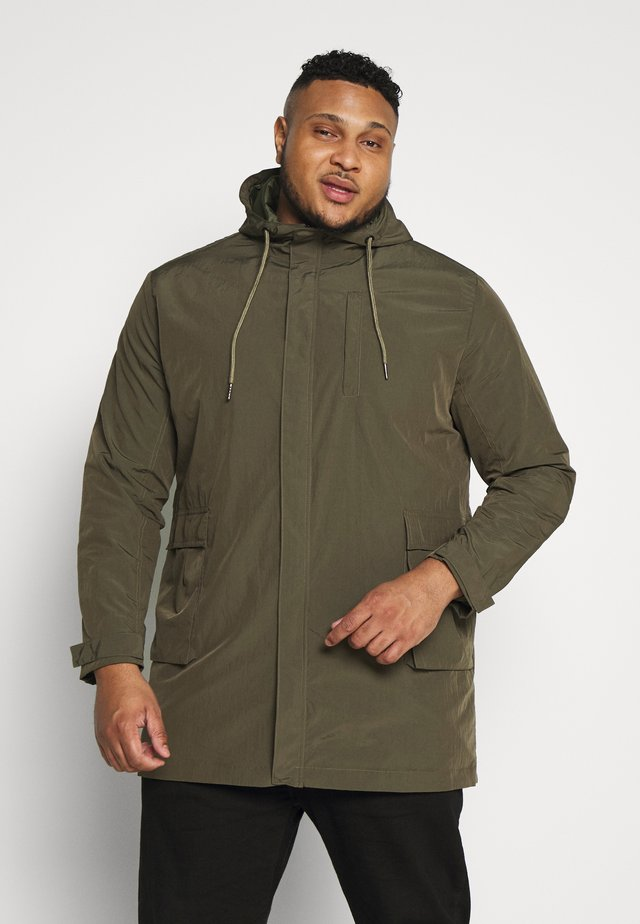 PARKA WITH HOOD - Parka - army