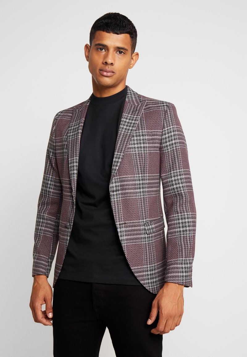 Jack & Jones PREMIUM - JPRBRANDO CHECK - Kavaj - fudge