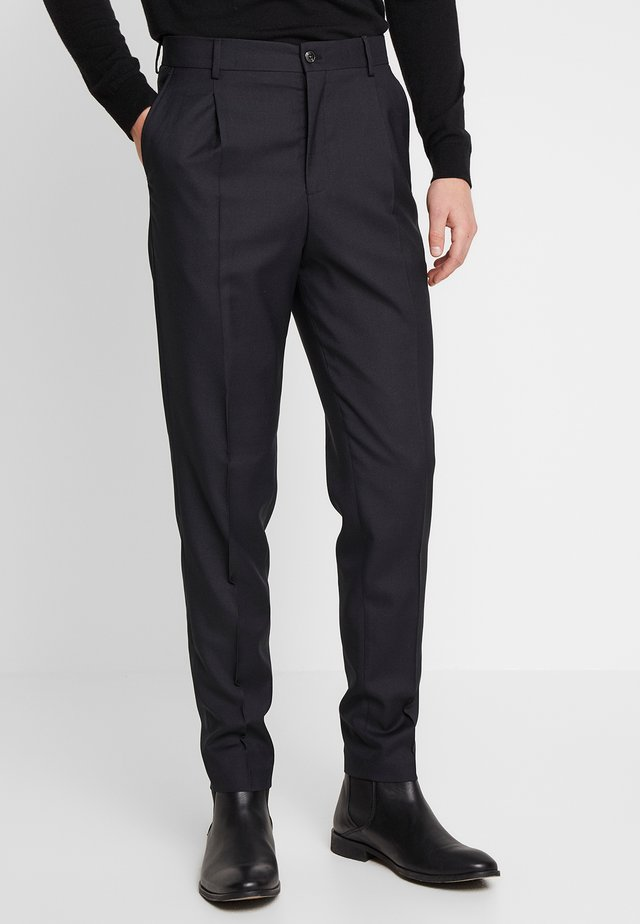 JPRPHILIP HIGH WAIST TROUSER - Puvunhousut - black