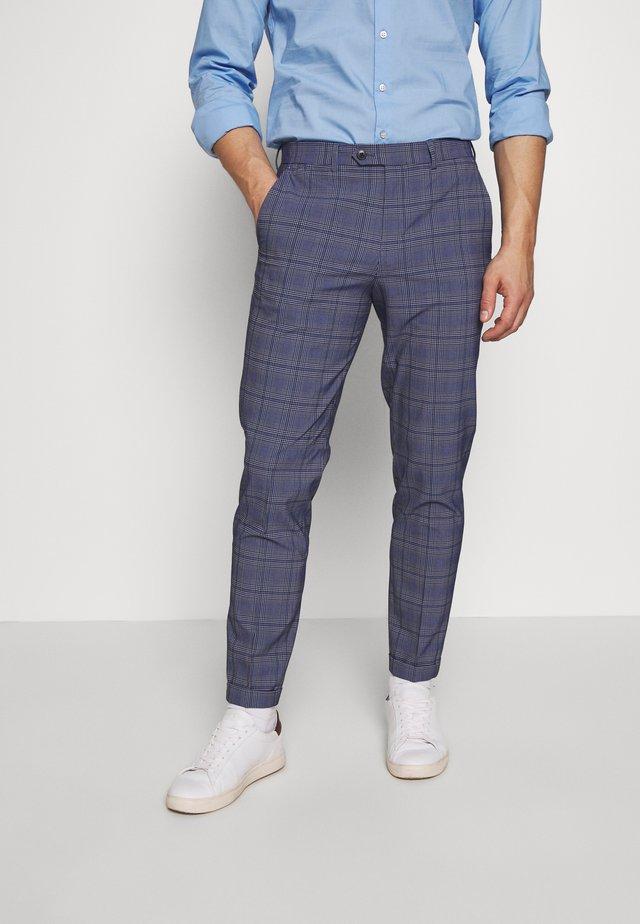 JPRBLAJONES CHECK TROUSER - Oblekové kalhoty - dark navy