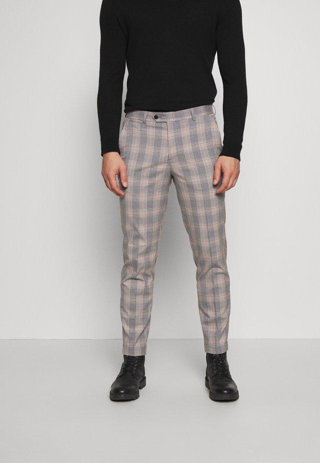 JPRBLAKEVIN CHECK TROUSER - Pantaloni eleganti - grey melange
