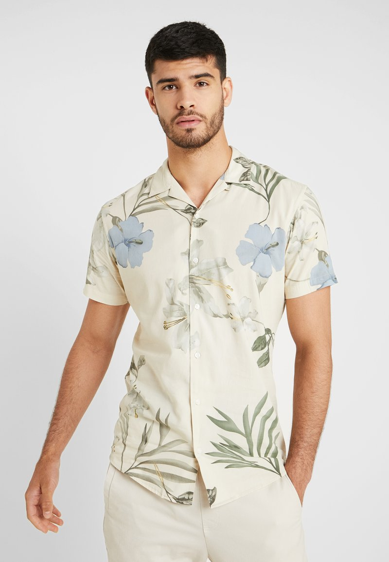 Jack & Jones PREMIUM - KLASSISCHES HAWAII - Shirt - white