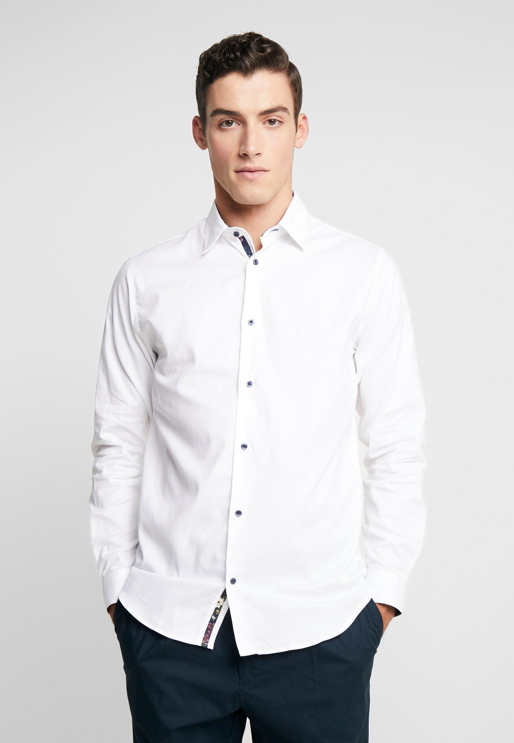 Jack & Jones PREMIUM JPRHANK DETAIL PLAIN - Koszula - white