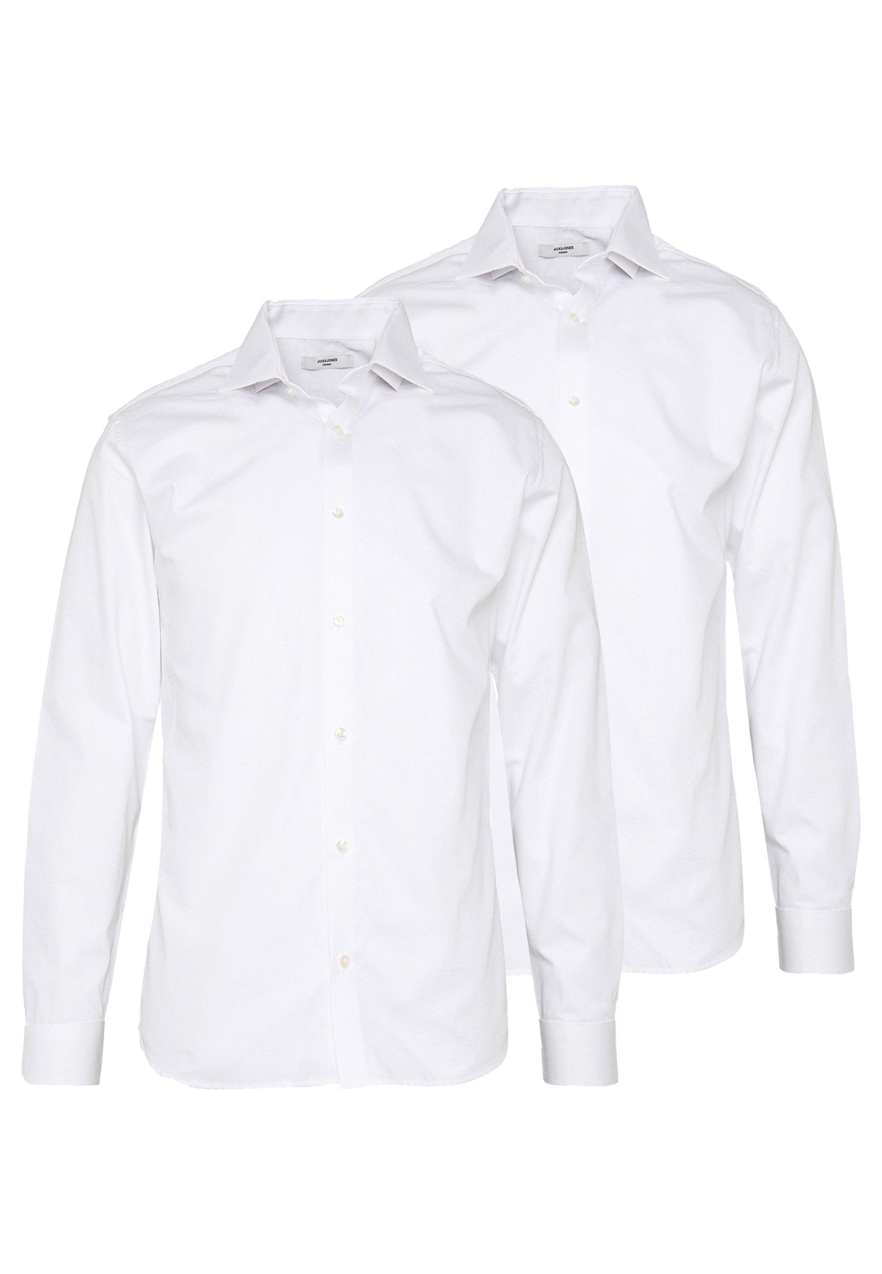 Jack & Jones PREMIUM JPRBLA BASIC SHIRT SLIM FIT 2 PACK - Koszula biznesowa - white