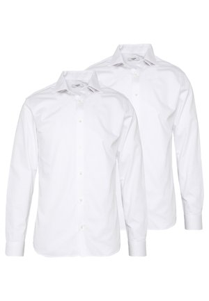 JPRBLA BASIC SHIRT SLIM FIT 2 PACK  - Kauluspaita - white