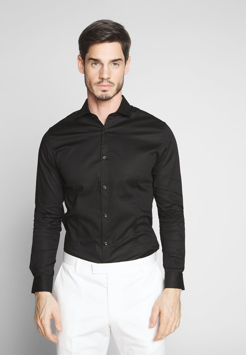 Jack & Jones PREMIUM - JPRBLASUPER STRETCH - Kauluspaita - black